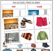 Hot or Cold - What to Wear? - Printable Montessori Learning Materials by Montessori Print Shop.