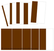 Broad/Brown Stair Cards Cornered - Printable Montessori Learning Materials by Montessori Print Shop.