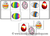 Egg Match-Up & Memory Game - Printable Montessori Learning Materials by Montessori Print Shop.