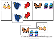 Mitten Match-Up & Memory Game - Printable Montessori Learning Materials by Montessori Print Shop.