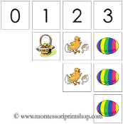 0 to 10 Numbers and Counters (Easter) - Printable Montessori Math Materials by Montessori Print Shop.