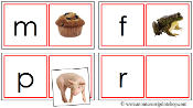 Phonetic Matching Cards (Set 1) - Printable Montessori Learning Materials by Montessori Print Shop.