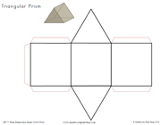 Three Dimensional Shapes: Cut and Fold - Printable Montessori Learning Materials by Montessori Print Shop.