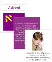 Advent Cards and Booklet - Printable Montessori Learning Materials by Montessori Print Shop.