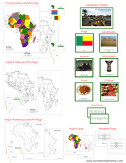 Africa Geography Bundle - Printable Montessori Geography Materials by Montessori Print Shop.
