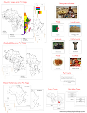 Africa Deluxe Geography Bundle (NCB)- Printable Montessori Geography Materials by Montessori Print Shop.