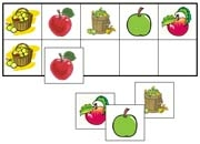 Apple Match-Up & Memory Game - Printable Montessori Learning Materials by Montessori Print Shop.
