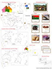 Australia/Oceania Deluxe Geography Bundle - Printable Montessori Geography Materials by Montessori Print Shop.
