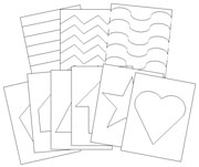 Basic Shapes Cutting & Pin Poking Lessons - Printable Montessori materials by Montessori Print Shop.