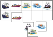 Boat Match-Up & Memory Game - Printable Montessori Learning Materials by Montessori Print Shop.