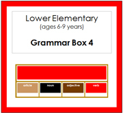 Elementary Grammar Box 4 Verbs (Elementary Colors) - Printable Montessori materials by Montessori Print Shop.