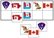 Canada Day Match-Up & Memory Game - Printable Montessori Learning Materials by Montessori Print Shop.