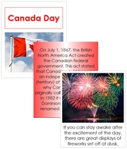 Canada Day Cards and Booklet - Printable Montessori Learning Materials by Montessori Print Shop.