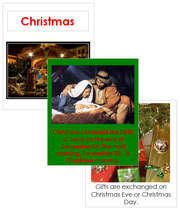 Christmas Cards and Booklet - Printable Montessori Learning Materials by Montessori Print Shop.