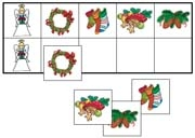 Christmas Match-Up & Memory Game - Printable Montessori Learning Materials by Montessori Print Shop.