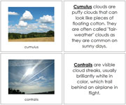 Types of Clouds (book) - Printable Montessori Science Cards by Montessori Print Shop.