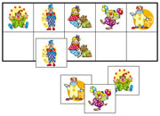Clown Match-Up & Memory Game - Printable Montessori Learning Materials by Montessori Print Shop.