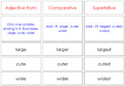 Comparatives and Superlatives - Printable Montessori Learning Materials by Montessori Print Shop.