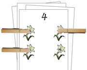 Counting Cards (Easter) - Printable Montessori Math Materials by Montessori Print Shop.