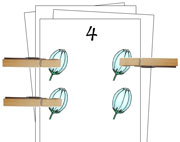 Counting Cards (Spring) - Printable Montessori Math Materials by Montessori Print Shop.