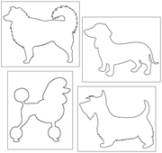 Pin Poke Dogs - Printable Montessori Learning Materials by Montessori Print Shop.