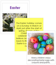 Easter Cards and Booklet - Printable Montessori Learning Materials by Montessori Print Shop.