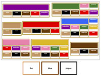 Elementary Grammar Bundle (Boxes #2-9) with Traditional Border Colors - Printable Montessori materials by Montessori Print Shop