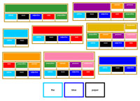 Elementary Grammar Bundle with Primary Color Borders - Printable Montessori Learning Materials by Montessori Print Shop.