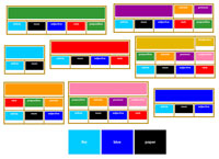Elementary Grammar Bundle with Primary Colors - Printable Montessori Learning Materials by Montessori Print Shop.