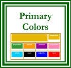 Montessori Elementary Grammar Boxes (Primary Colors) - Printable Montessori Grammar materials for Elementary