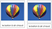 French Air Transportation - Printable French Montessori Learning Materials for home and school.