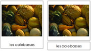 French Autumn Cards - Printable French Montessori Learning Materials for home and school.