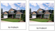 French Building Cards - Printable French Montessori Learning Materials for home and school.