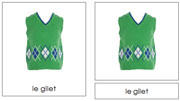 French Clothing Cards - Printable French Montessori Learning Materials for home and school.