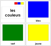 French Color Cards - Printable French Montessori Learning Materials for home and school.