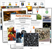 Forms of Energy - Printable Montessori science materials by Montessori Print Shop.