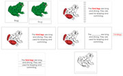Frog Definition Set (Red) - Printable Montessori Learning Materials by Montessori Print Shop.