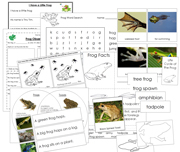 Frog - Basic Starter Unit - Printable Montessori Practical Life Materials by Montessori Print Shop.