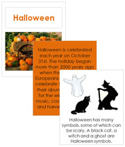 Halloween Cards and Booklet - Printable Montessori Learning Materials by Montessori Print Shop.