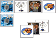 Hanukkah Matching Cards - Printable Montessori Materials by Montessori Print Shop.