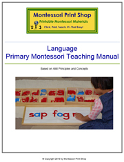 Montessori Language Teaching Manual - Printable Montessori Learning Materials by Montessori Print Shop.