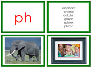 Green Phonogram Photos for Moveable Alphabet (Large) - Printable Montessori Learning Materials by Montessori Print Shop.