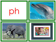 Green Phonogram Photos for Moveable Alphabet (Small) - Printable Montessori Learning Materials by Montessori Print Shop.
