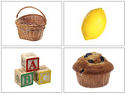 Phonetic Photos for Moveable Alphabet Step 2 (Small) - Printable Montessori Learning Materials by Montessori Print Shop.