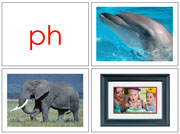 Phonogram Photos for Moveable Alphabet Step 3 (Large) - Printable Montessori materials by Montessori Print Shop.