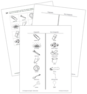 Magnetic & Non-Magnetic Blackline Masters - Printable Montessori science materials by Montessori Print Shop.