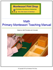 Montessori Math Teaching Manual - Printable Montessori Learning Materials by Montessori Print Shop.