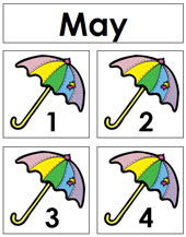 May Calendar Tags - Printable Montessori materials by Montessori Print Shop.