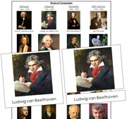 Musical Composers - Printable Montessori Learning Materials by Montessori Print Shop.