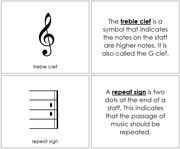 Musical Notes and Symbols Book - Printable Montessori Learning Materials by Montessori Print Shop.